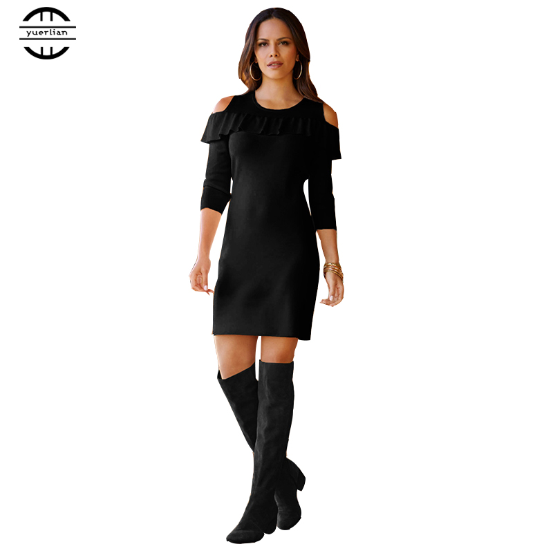 Summer Ladies black Dress 2018 Ruffles Off Shoulder Slim Mini Party Dress Vestidos Women Elegant Femme Dress Vestidos plus size