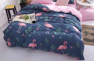 Image 4 - 1PCS Duvet Cover 200*200 Bedding Quilt Blanket Comforter Cover Printing Single Double Queen King Customized 140*200cm flamingo