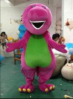 High quality Adult large Barney Cartoon Mascot Costumes on Adult Size Free Shipping