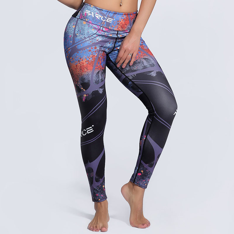 Top Quality Sexy Girl Women Cool Popular Element Print Leggings Large Size Skinny Workout Fitness Leggins Yogaing Sporting Pants