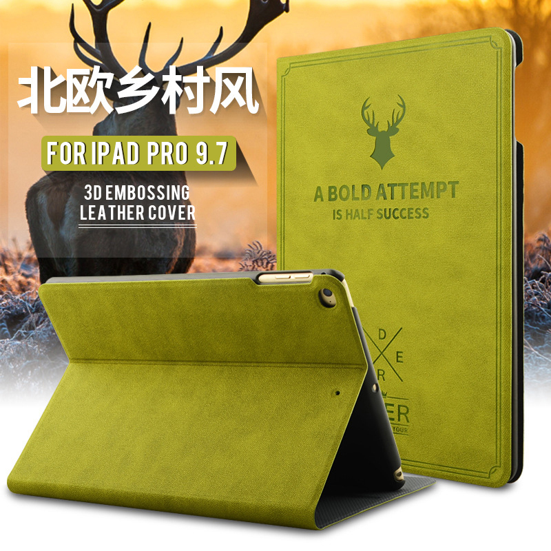 UTOPER 3D Deer Pattern Case For iPad Pro Case Retro Sleep/Wake Up Flip Leather Cover For iPad Pro 9.7 Smart Stand Holder Fundas leather case flip cover for letv leeco le 2 le 2 pro black