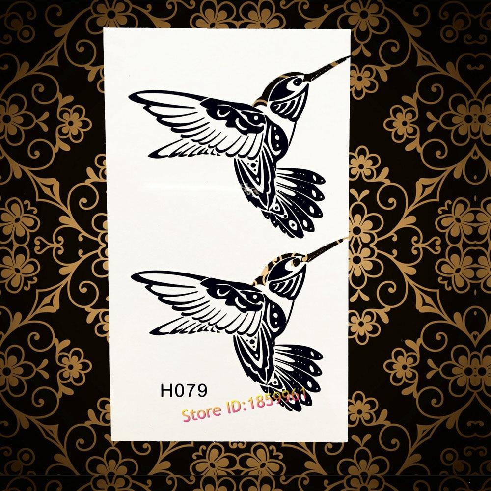 Good Quality Fake Flash Temporary Tattoo Flying Birds