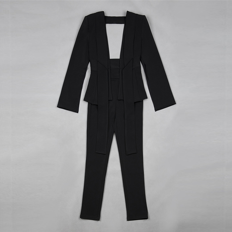 e8a60e5f2087f US $76.49 15% OFF|HIGH STREET New Fashion Runway 2018 Designer Jumpsuit  Women's Sexy Deep V Hollow Out Jumpsuit-in Jumpsuits from Women's Clothing  on ...