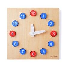 Bebé Montessori Juguete de Madera Reloj con Las Manos Móvil Formación Preescolar Educación Juguetes Para Niños Brinquedos juguetes Clásicos Infantiles