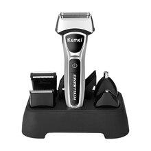 Kemei, 12 в 1, персональная 3D электробритва для мужчин, триммер для волос, бороды, сетка/фольга, бритва, перезаряжаемая машинка для стрижки волос, машинка для бритья