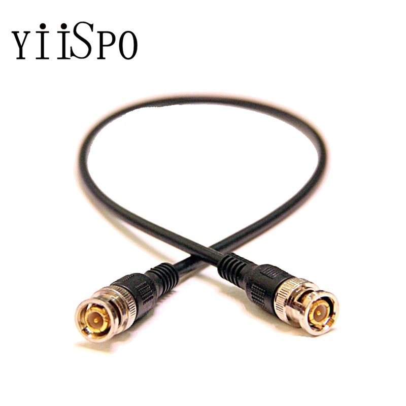 YiiSPO Wholesale CCTV Camera Accessories 2M Coaxial Extend Cable BNC Male to BNC Male cable For CCTV Camera Free shipping 1pcs high quality 1 5m cctv cable bnc male video power cable for cctv camera and dvrs black color coaxial cable free shipping