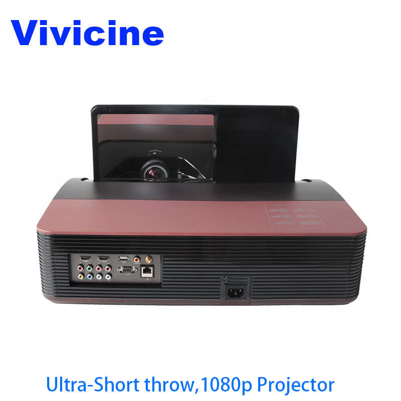 Vivicine 1080 P Ultra Short Throw Projector Android Wifi Portabel Fisheye Lensa Home Theater Multimedia Proyektor Video TV Beamer