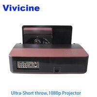 Vivicine 1080 p Ультра короткий бросок проектор, Android wifi Портативный Рыбий глаз объектив домашний кинотеатр Мультимедиа видео проекторы ТВ проект