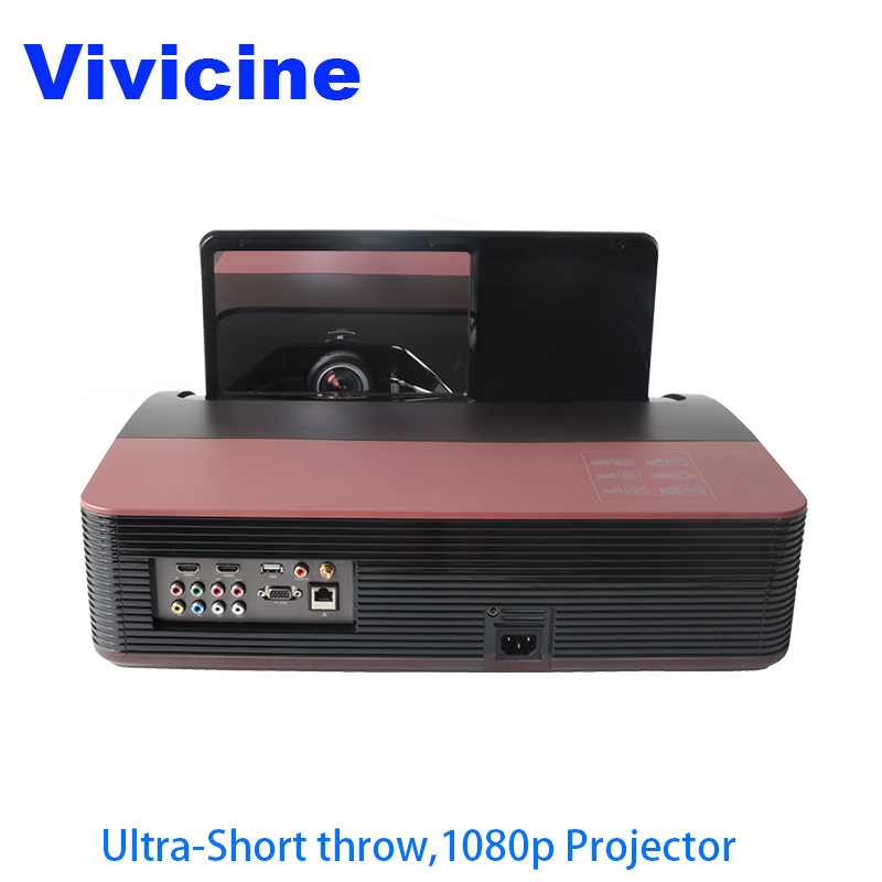 Vivicine 1080p Ultra Short Throw Projector,Android WIFI Portable Fisheye Lens Home Theater Multimedia Video Projectors TV Beamer 300inch 5500ansi short throw movie home theater outdoor dlp 3d multimedia cinema film vga digital 1080p video projector beame
