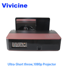Vivicine 1080p Ultra Short Throw Projector Android WIFI Portable Fisheye Lens Home Theater Multimedia Video Projectors