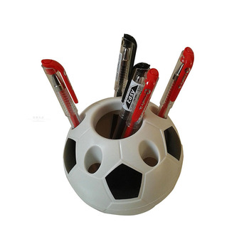 1pcs Popular Business Office Ornaments Creative Multifunction Soccer Shape Pen Holder Fashion Office Storage Tool Supplies Pen Holders