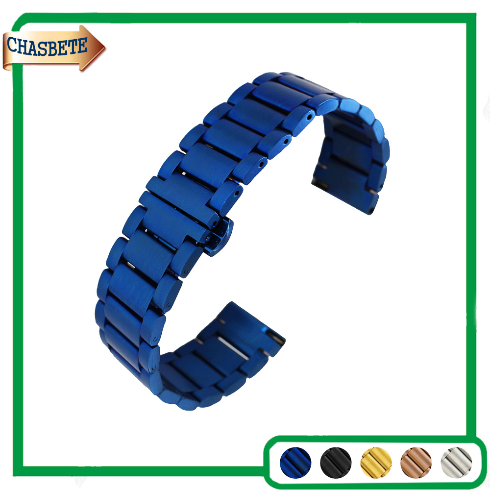 Stainless Steel Watch Band for Omega 16mm 20mm 22mm Men Women Quick Release Metal Strap Belt Wrist Loop Bracelet Blue Black Gold ceramic stainless steel watchband universal quick release watch band butterfly clasp wrist strap 12mm 14mm 16mm 18mm 20mm 22mm