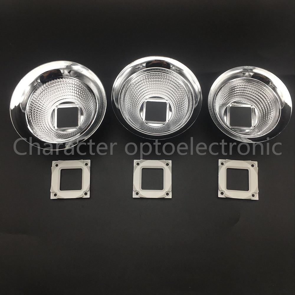 5pcs 89MM 98MM 100MM Diameter Aluminum Led Lamp Reflector Cup Bowl Case For 20W - 100W 25X25MM High Power Led Emitter Spotlight sst 50 smooth aluminum reflector 5 1cm diameter