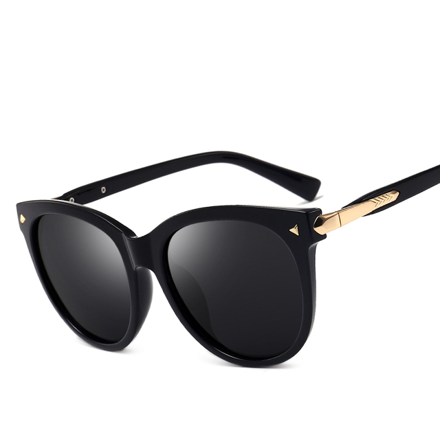 122d4c32f004 vintage round sunglasses polarized women men men s 2018 black cat eye mirror  polaroid driving glasses wommes