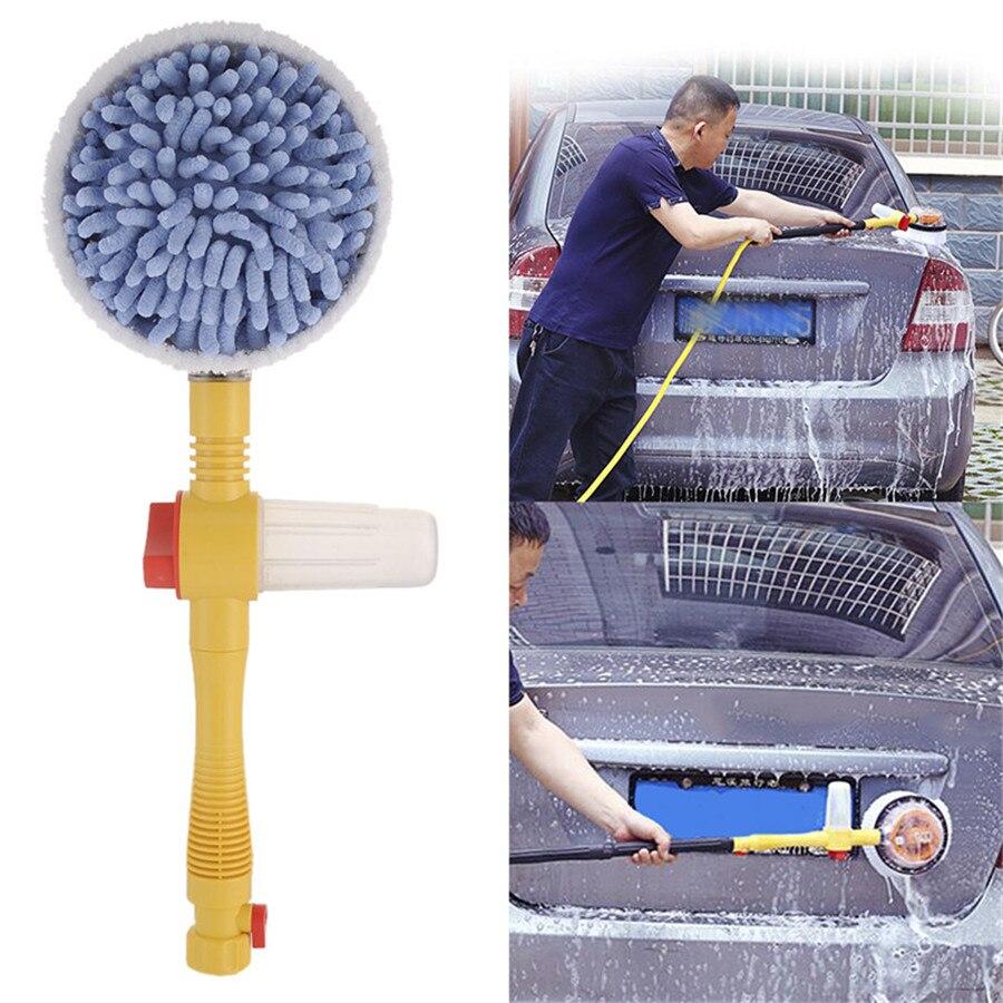 Portable automatique voiture mousse brosse rondelle professionnel pulvérisation mousse brosse rotative Auto propre outils lavage interrupteur débit d'eau
