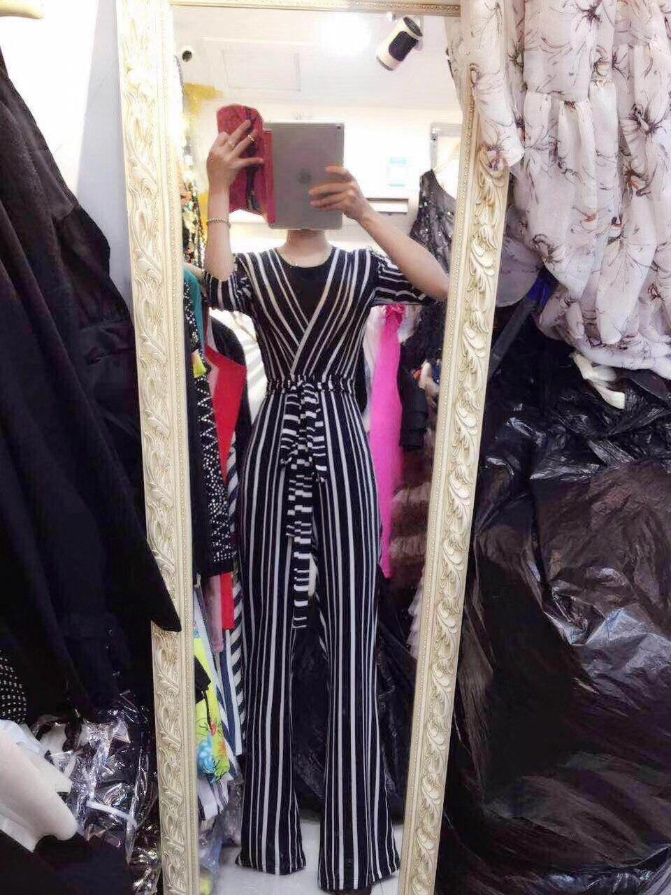 057a0d59ec6 LATIBELL 2018 Fashion Black White Short Sleeve Jumpsuit Sexy V Neck Sashes  Striped Elegant Summer Special Casual Clubwear festa. 10908 10909 10906  10907