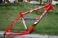 New Rubar 7005 alluminum alloy MTB FRAME 26 18 RED color CLEAR STOCK