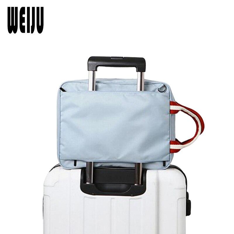 WEIJU Men Travel Bags Large Capacity Handbag Totes Boarding Waterproof Bag Folding Duffle Luggage Shoulder Woman