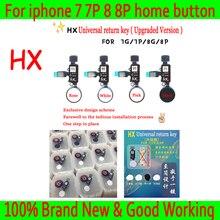 Новый HX JC универсальная домашняя кнопка для iphone 7/7 plus/8/8 плюс Кнопка возврата ключа сзади функции и снимок экрана без touch ID