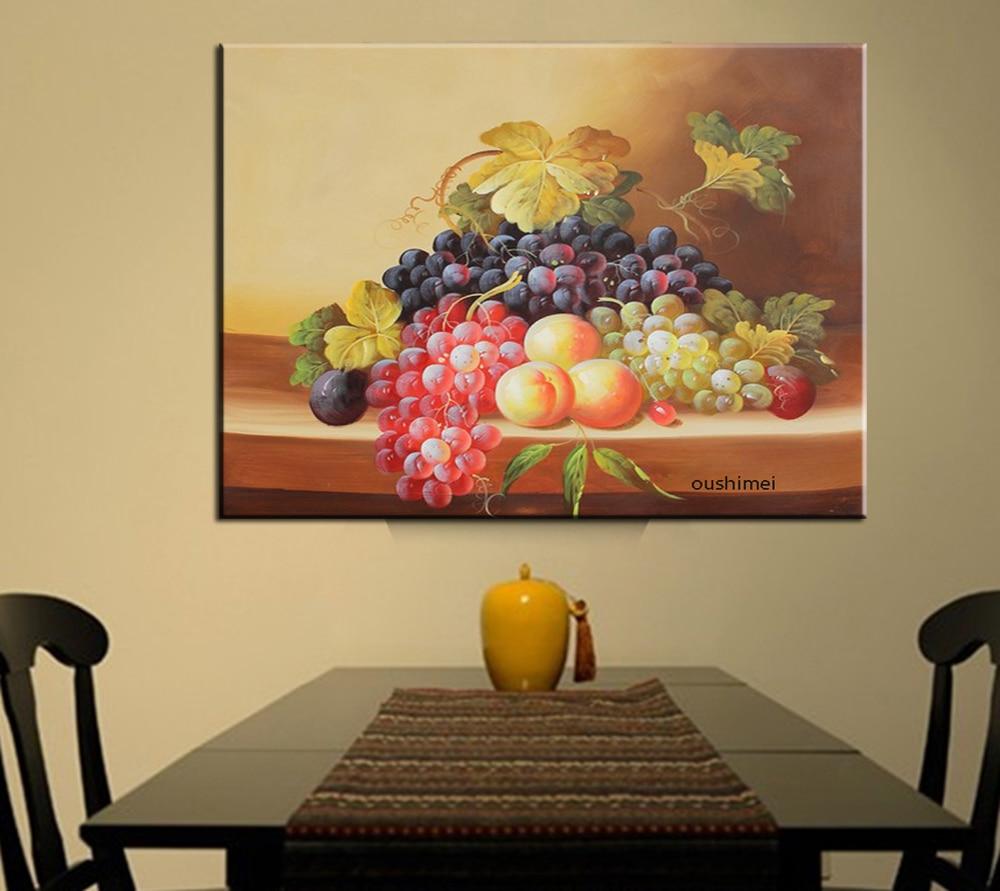 Buatan Tangan Masih Hidup Lukisan Modern Buah Karya Seni Dinding Pada Kanvas Anggur Lukisan Ruang Makan Dekorasi Gambar Untuk Ruang Tamu Art On Canvas Wall Artpainting Modern Aliexpress