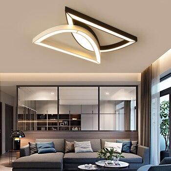Kreatif Fashion Lampu Langit-langit LED Lampu Langit-langit untuk Lobi Ruang Tamu Kamar Tidur Dapur Hitam dan Putih C Langit-langit Lampu 110 V 220 V