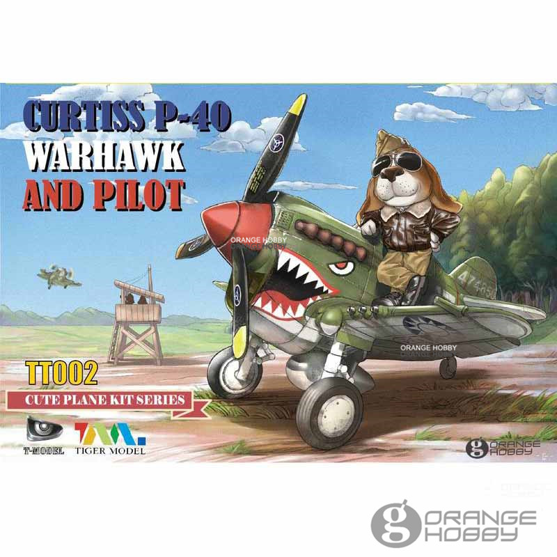 OHS Tiger Model TT002 Q Versin Curtiss P40 WarHawk and Pilot Assembly Airforce Model Building Kits цена