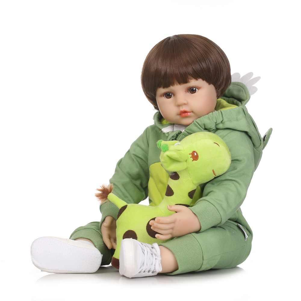 Npkcollection 58 cm bebes reborn boneca lifelike silicone macio reborn bonecas do bebê brinquedos para meninas presente de aniversário moda bebê bonecas
