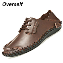 2017 Genuine Leather Men Shoes Plus Big Size High Quality Soft Moccasins Loafers Casual Leisure Men Flats Comfy Driving Shoes