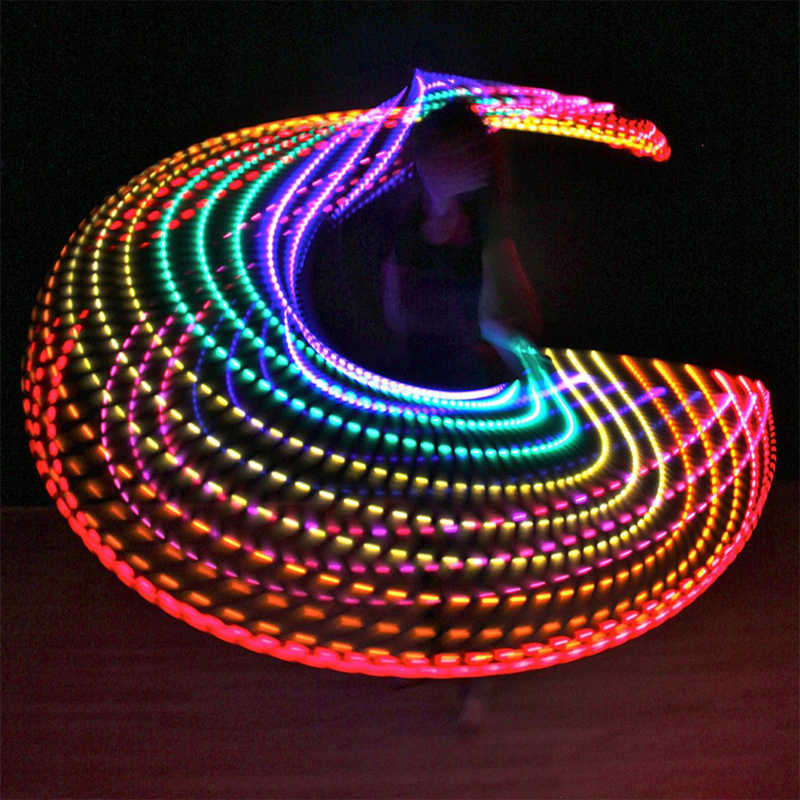 PENGROAD LED Colorful Unremovable Sport Hoops Illuminate Fitness Circle Performing Arts Abdominal Loss Weight Fitness Equipments