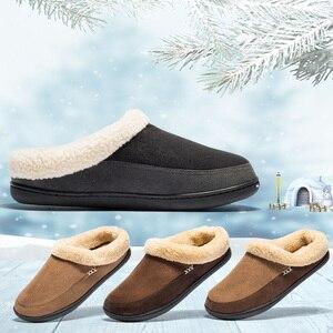 Image 3 - Marka domu kapcie z bawełny mężczyźni zima łazienka zamszowe buty męskie ciepłe Australia styl mężczyzna dom kryty człowiek stałe dorosłych Pantufa