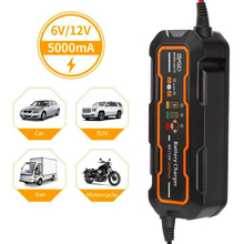 Motorcycle Battery Charger 6V / 12V Adapt Automatic 5A Full 3 Stages Lead Acid AGM GEL Car Battery Charger
