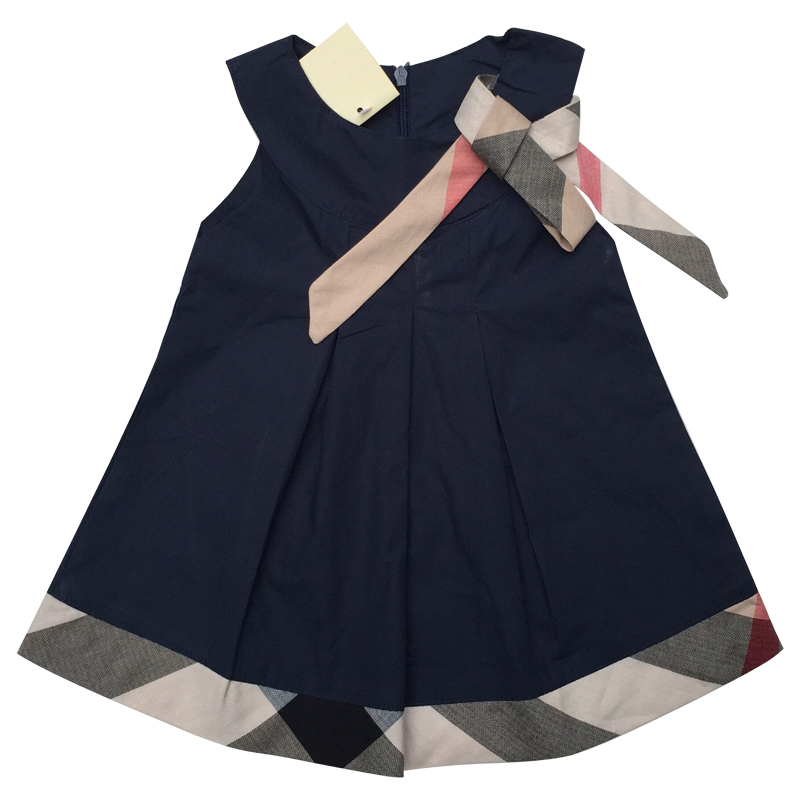 New baby dress casual kids clothes fashion bow baby clothing summer style dresses cotton child - Baby gear for small spaces style ...