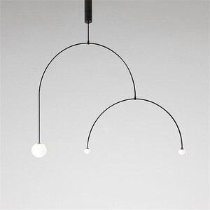 Art Chandelier Designer Iron Balance Chandelier Scandinavian Post-modern Creative Living Room Bedroom Lamps(China)