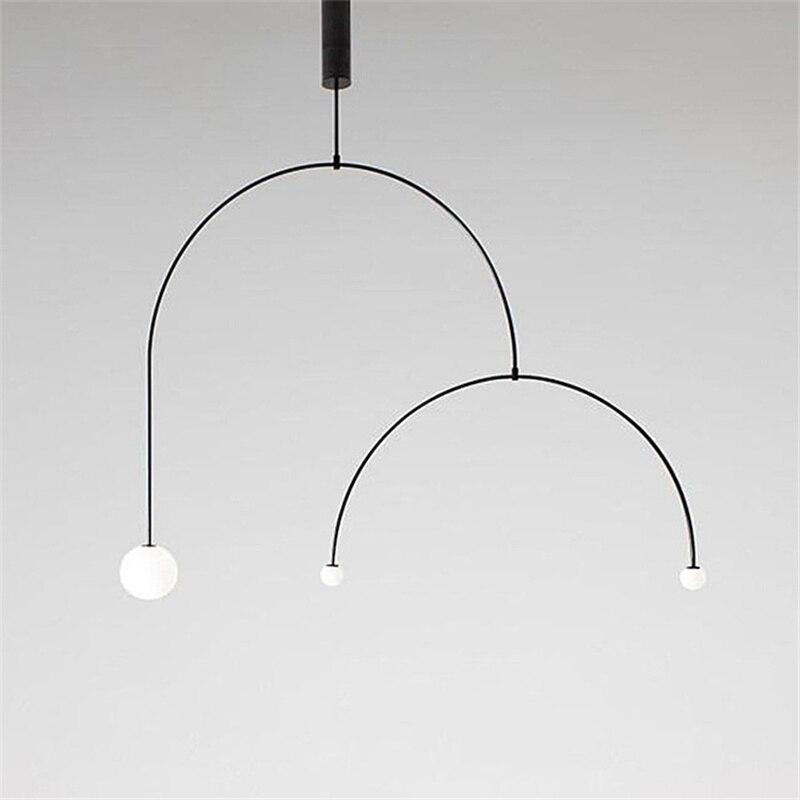 Art lustre Designer fer Balance lustre scandinave Post-moderne créatif salon chambre lampes