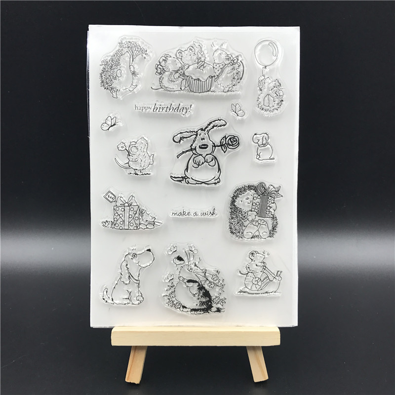 Pet world Transparent Clear Silicone Stamp/Seal for DIY scrapbooking/photo album Decorative clear stamp sheets A674(China)