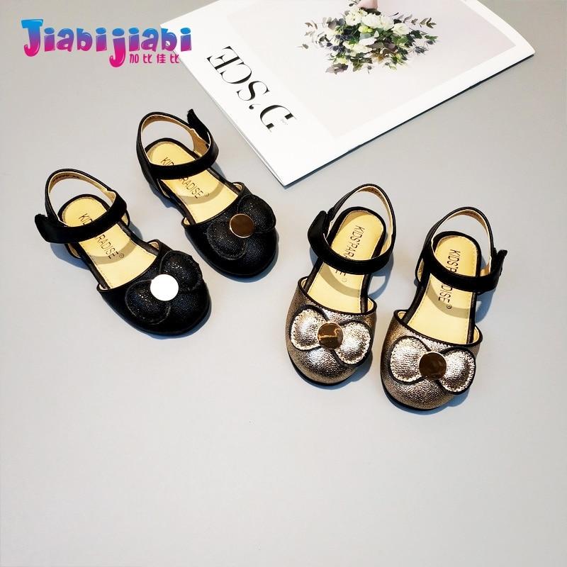 1-3T Summer Little Girl Shining Bowknot Princess Roman Shoes Baby Moccasins Soft Bottom Prewalker Leather Toddler Sandals H88872