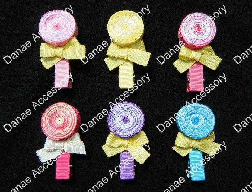 50 шт./лот Lollipop Характер Дети Todder Девушки банты на голову клип
