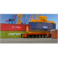 1:87 HO scale train Model 40 feet container 6pcs/lot Oceangoing Ship Freighter Boat Accessories Scale model parts