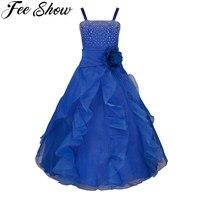 Elegant Girls Dress Gowns Kids Princess Wedding Dress Party Wear Girls Evening Prom Dress Birthday Frocks