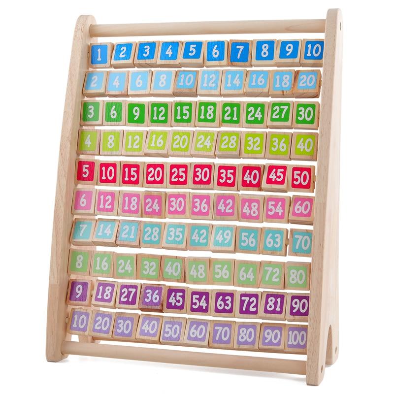 Crianças brinquedos montessori brinquedos de madeira mesa de multiplicação do bebê cedo brinquedos educativos aritmética auxiliares de ensino brinquedo de matemática para crianças