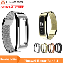 Mijobs Milanese Metal Strap for Huawei Honor Band 4 Running Strap Smart Watch Wristband for Honor Band 4 Running Wrist Bracelet