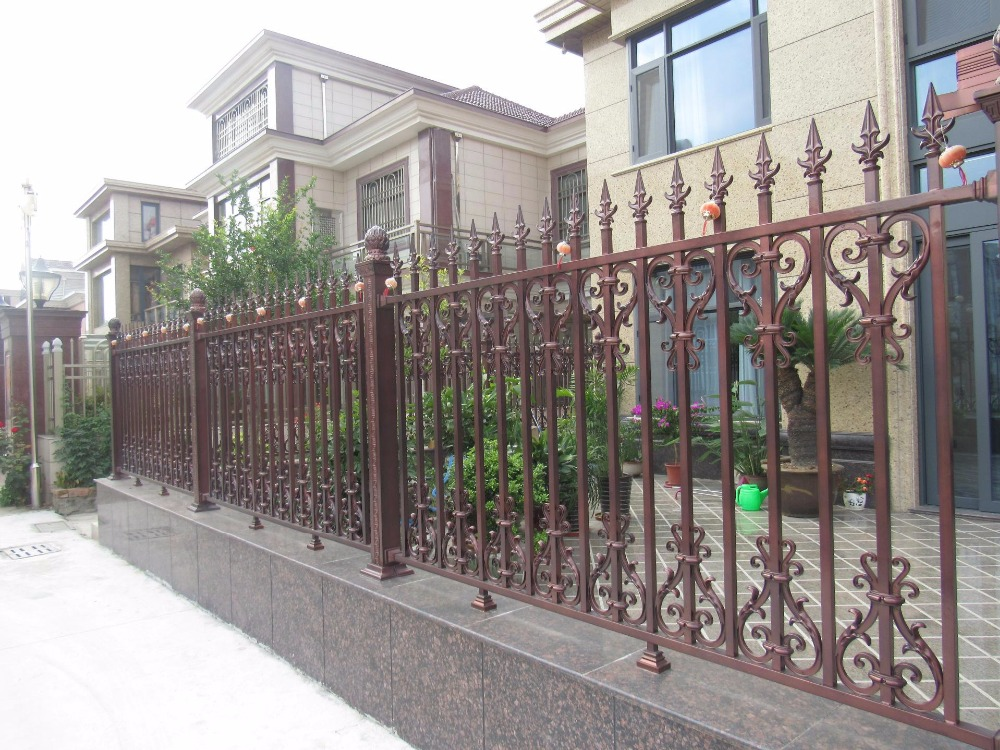 New Style Powder Coated Metal Aluminum Fence Designs Hc-af5