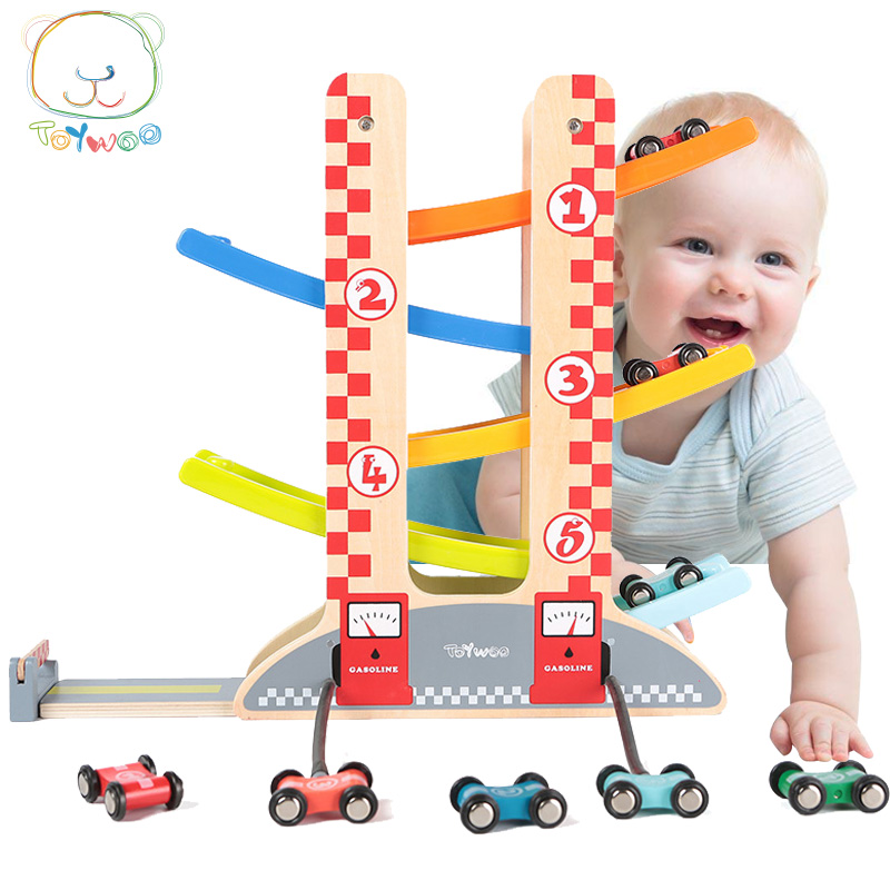 Toy Woo Children Toy Baby Wooden Educational Toy Car ...