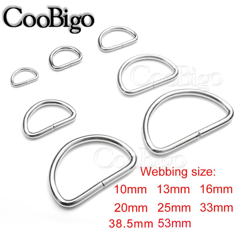 HEAVY DUTY METAL WELDED D RINGS DOGS LEATHER WEBBING CRAFT ALL SIZES /& QUANTITY