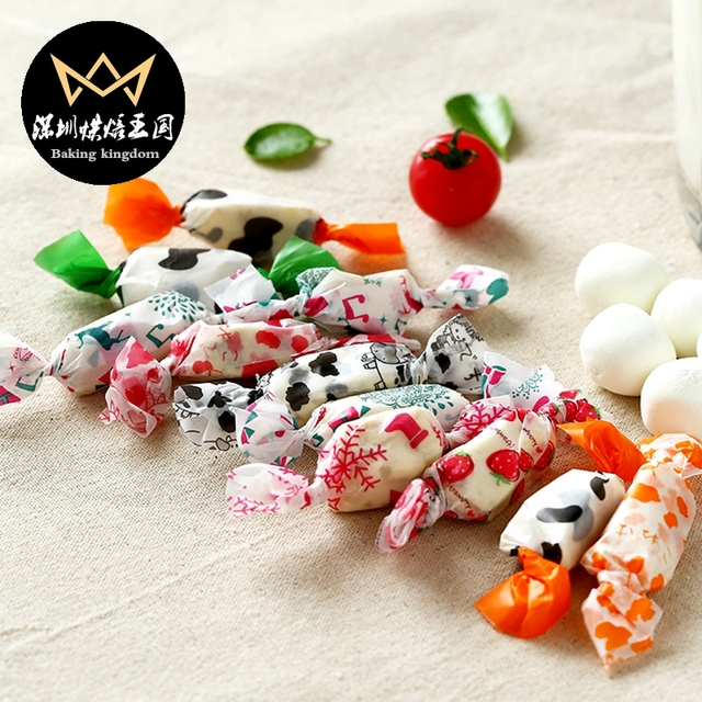 Baking packaging Nougat Candy Wrappers Wrapping Paper Twisting Wax ...