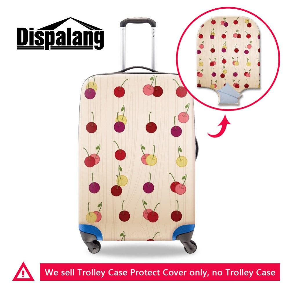 ⑥Moda mujeres equipaje protectora Tapas elástica gruesa cereza ...