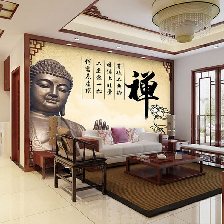 Vintage Wall Mural 3D Buddha Photo Wallpaper Large Wallpaper Art ...