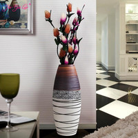 Jia gui luo Nordic hand painted floor vase home living room decoration