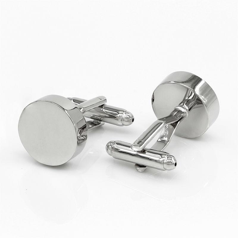 9640c284895f4b Metal Round Cufflinks Men Cuff Links Designer Brand Luxury Wedding Gifts  for Men155908