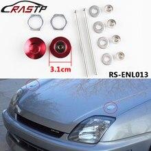 RASTP- 1pcs Red/Blue/Black Universal Push Button Billet Hood Pins Lock Clip Kit Car Quick for Engine Bonnets RS-ENL013
